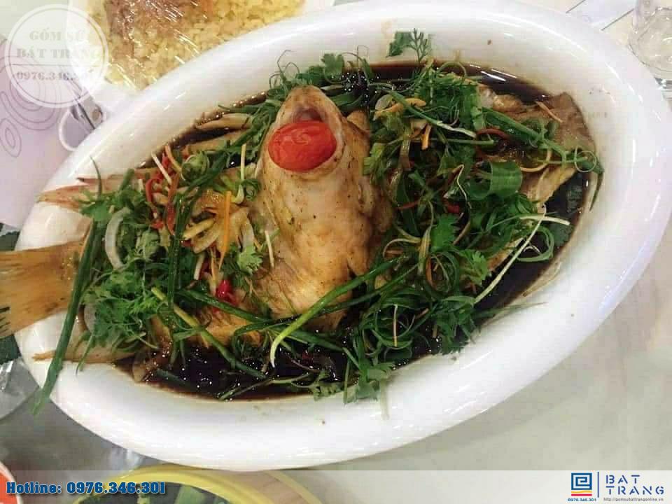 Bếp hâm đồ ăn hình bầu dục bằng gốm Bát Tràng cao cấp 2